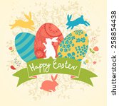 Sweet Happy Easter Card In...