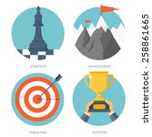 vector illustration set. flat... | Shutterstock .eps vector #258861665