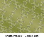 Seamless oriental pattern in grassy colors rotated - stock vector