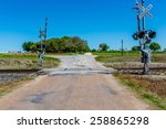 Railroad Crossing On Old Texas...