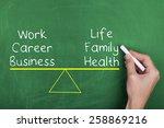 work life balance | Shutterstock . vector #258869216