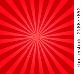 red shiny starburst background. ... | Shutterstock .eps vector #258877892