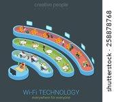 public wi fi zone wireless... | Shutterstock .eps vector #258878768