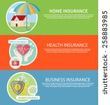 insurance icons set concepts of ... | Shutterstock .eps vector #258883985
