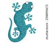 lizard  | Shutterstock .eps vector #258890672