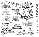 doodles hand drawn vector.... | Shutterstock .eps vector #258896882