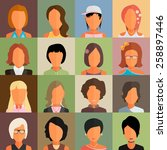 set of people icons in flat... | Shutterstock .eps vector #258897446