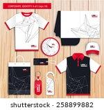 vector white promotional... | Shutterstock .eps vector #258899882