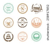 vintage bakery badges  labels... | Shutterstock .eps vector #258917852