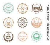 vintage bakery badges  labels... | Shutterstock .eps vector #258917852