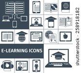 e learning digital education... | Shutterstock .eps vector #258918182
