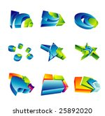 vector set of colorful 3d... | Shutterstock .eps vector #25892020