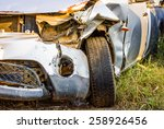 old damaged rusty car wreck  in ... | Shutterstock . vector #258926456