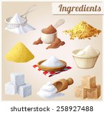 set of food icons. ingredients... | Shutterstock .eps vector #258927488