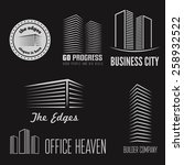set of logo and sticker  emblem ... | Shutterstock .eps vector #258932522