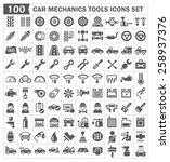 100 icons of car mechanics...