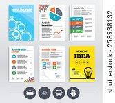 brochure design and a4 flyers.... | Shutterstock .eps vector #258938132