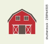 barn house icon or sign... | Shutterstock .eps vector #258964505
