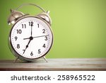 retro alarm clock with retro... | Shutterstock . vector #258965522