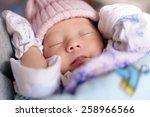 new born baby infant asleep | Shutterstock . vector #258966566