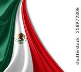 mexico flag and white background | Shutterstock . vector #258972308