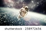 astronaut in outer space... | Shutterstock . vector #258972656