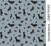 seamless pattern with dogs  | Shutterstock .eps vector #258979595