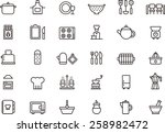 kitchen icon set | Shutterstock .eps vector #258982472