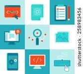 vector web development and... | Shutterstock .eps vector #258983456