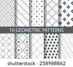 10 different square patterns  ... | Shutterstock .eps vector #258988862