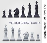 Vector Chess Figures  Black An...