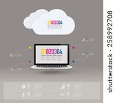 infographic design with... | Shutterstock .eps vector #258992708