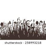florals vector silhouette black | Shutterstock .eps vector #258993218