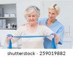 portrait of confident nurse... | Shutterstock . vector #259019882