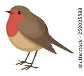 european robin | Shutterstock .eps vector #259025588