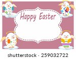 vector easter card with easter... | Shutterstock .eps vector #259032722