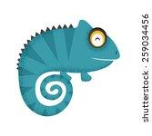 chameleon  | Shutterstock .eps vector #259034456