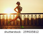 Running Woman. Runner Is...