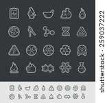 science icons    black line... | Shutterstock .eps vector #259037222