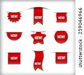new labels | Shutterstock .eps vector #259046966