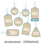 a set of star themed price tags | Shutterstock .eps vector #259064162