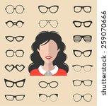 big vector set of dress up... | Shutterstock .eps vector #259070666