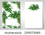 abstract flower background with ... | Shutterstock . vector #259075085