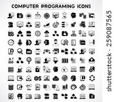 computer programming icons set  ... | Shutterstock .eps vector #259087565