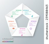 vector circle pentagon... | Shutterstock .eps vector #259088465