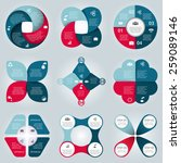 vector circle elements for... | Shutterstock .eps vector #259089146