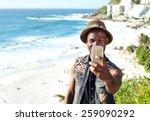 portrait of a happy african... | Shutterstock . vector #259090292