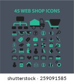 45 web shop  retail  commerce ... | Shutterstock .eps vector #259091585