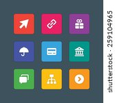 material design style icons... | Shutterstock .eps vector #259104965