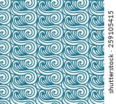 sea seamless pattern. abstract... | Shutterstock . vector #259105415